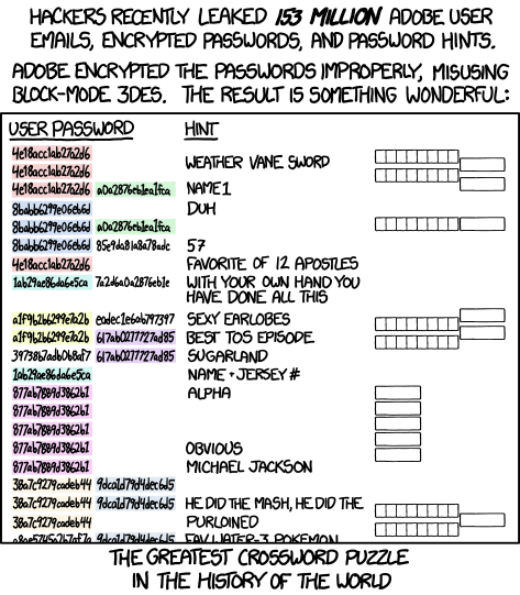 XKCD commic on the Adobe blunder, from 'https://xkcd.com/1286/'